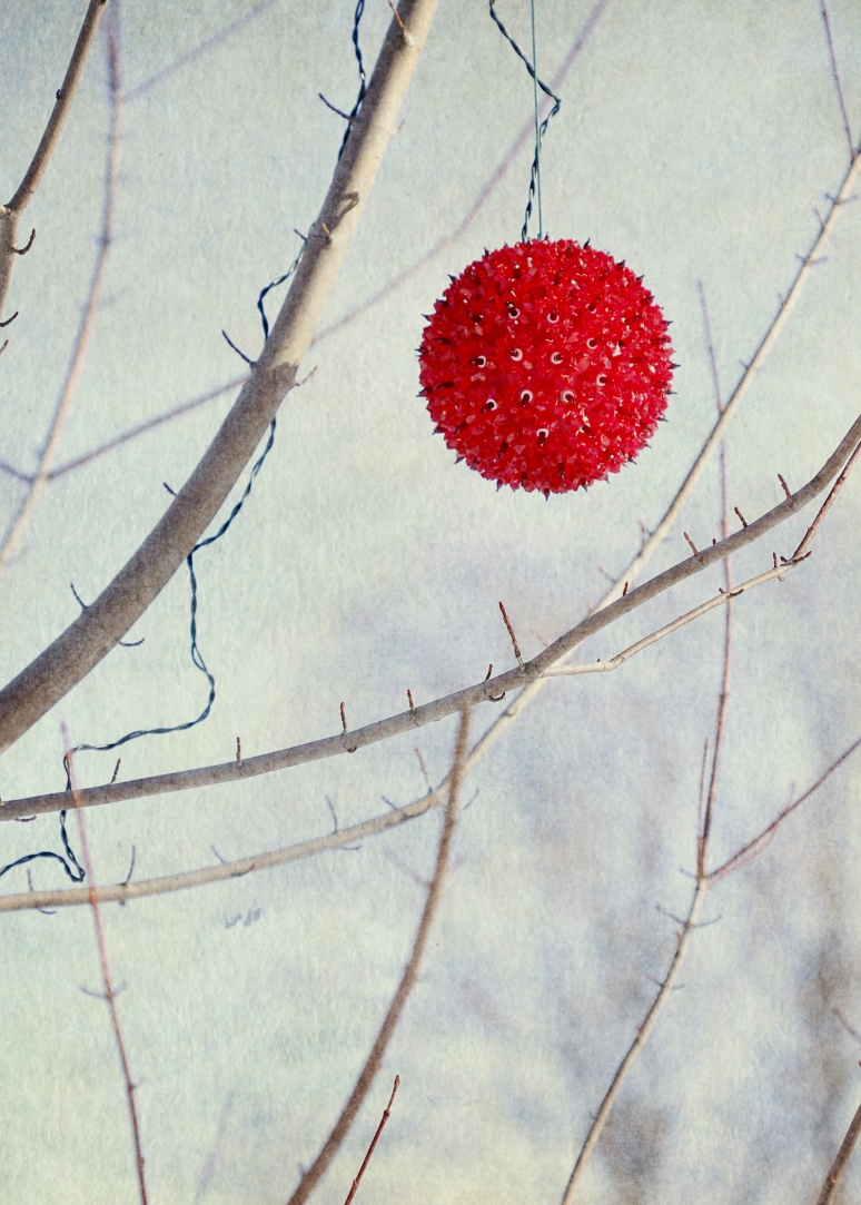 new red ball on twigs